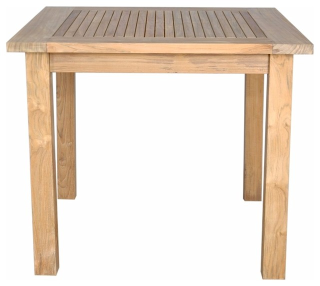 Windsor 35 Quot Square Table Small Slats Transitional