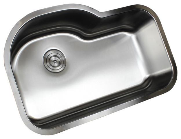 """Ariel Stainless Steel Undermount Single-Bowl Kitchen Sink, 32""""."""