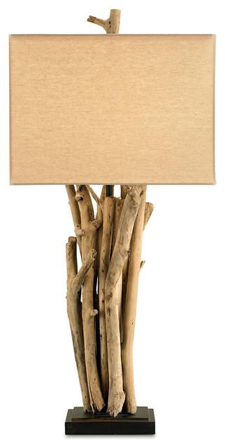Currey Amp Co 6344 Driftwood Natural Wood Table Lamp