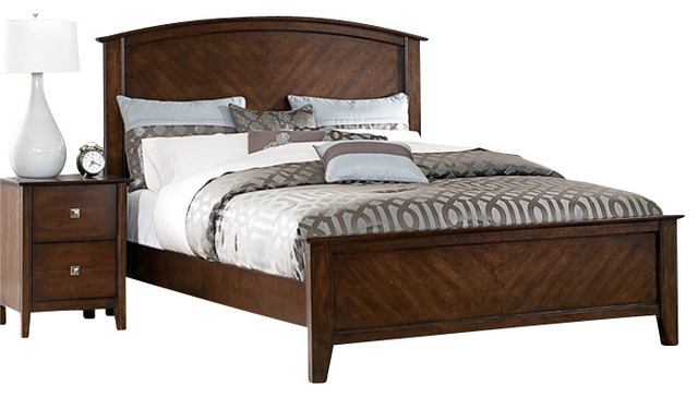 Cherry Bedroom Furniture Traditional homelegance cody 5-piece panel bedroom set in warm cherry