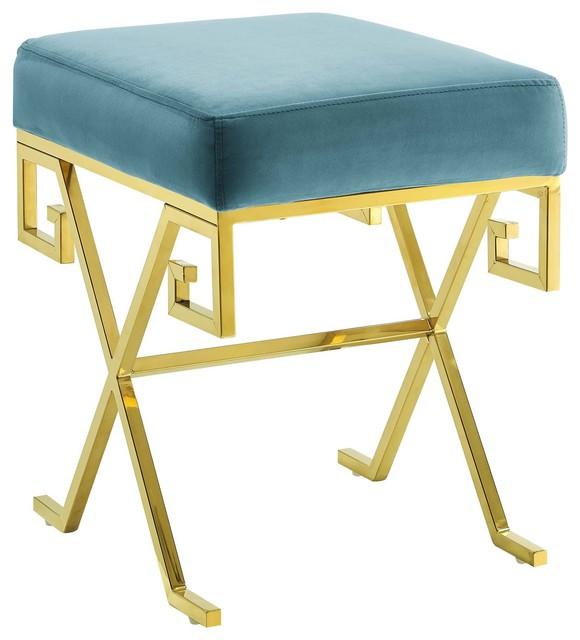 Superb Twist Velvet Bench Gold Sea Creativecarmelina Interior Chair Design Creativecarmelinacom