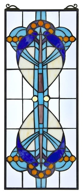 Bauhaus Modern Stained Glass Window Victorian Stained