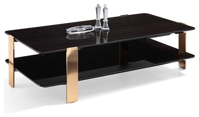 Coffee Table Black And Rose Gold