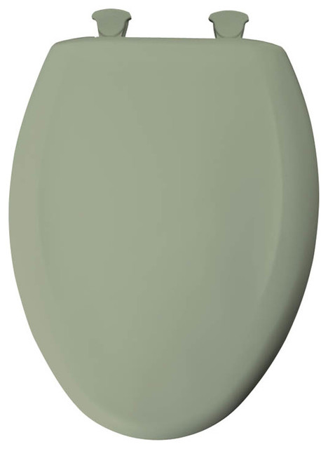 Bemis 1200SLOWT 000 Plastic Elongated Slow Close Toilet Seat Contemporary