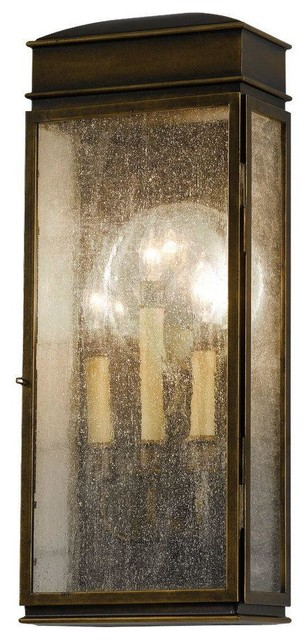 Whitaker 3 - Light Whitaker in Astral Bronze with Clear Seeded Glass Panel