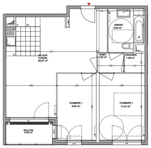 Am nagement cuisine salon salle manger de 29m2 - Amenagement cuisine salle a manger salon ...