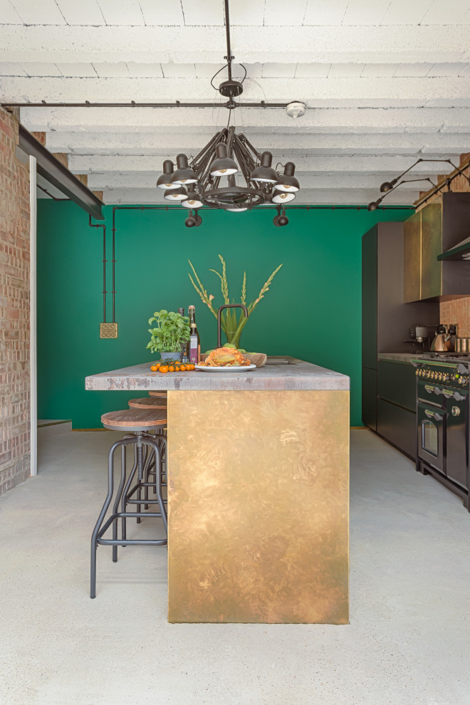 Inspiration for an industrial kitchen remodel in London