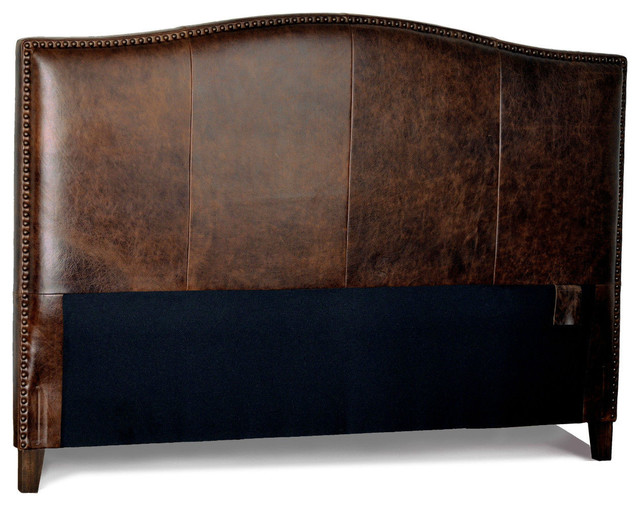 for now designs antique brown leather headboard for bed with, Headboard designs