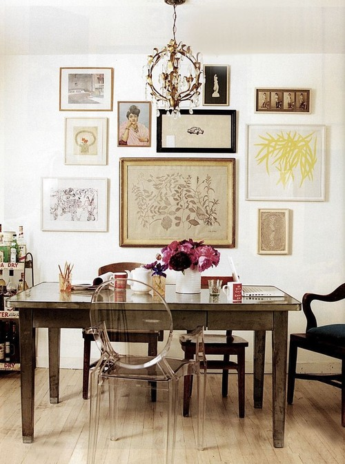 eclectic dining room photo collage