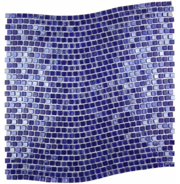 Miseno Miseno Comet Wave Pattern Glass Wall Tile Sheet