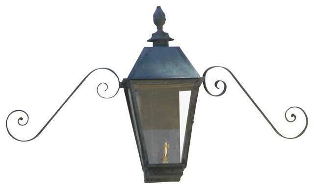 Magnolia Large Copper Wall Mount Single Candelabra Lantern Outdoor Wall Lights And