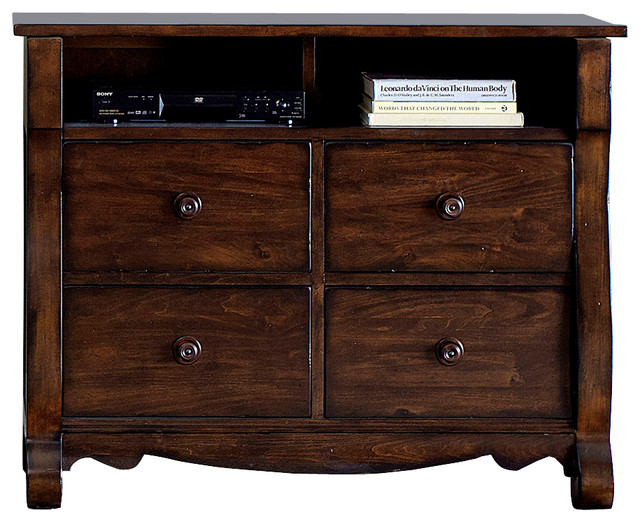 Silver Coast Company - Media Chest With Solid Poplar Wood, Rustic Russet - View in Your Room ...