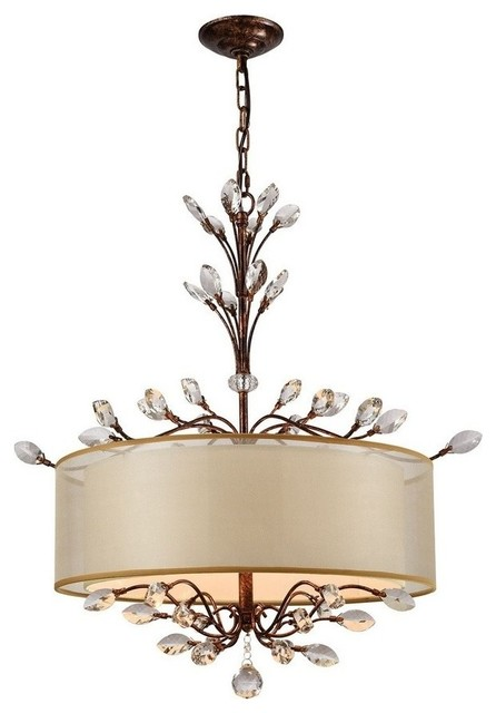 Asbury 4-Light Chandelier, Aged Silver