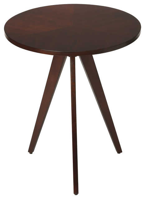 Butler Compass Plantation Cherry End Table Midcentury Side Tables And End