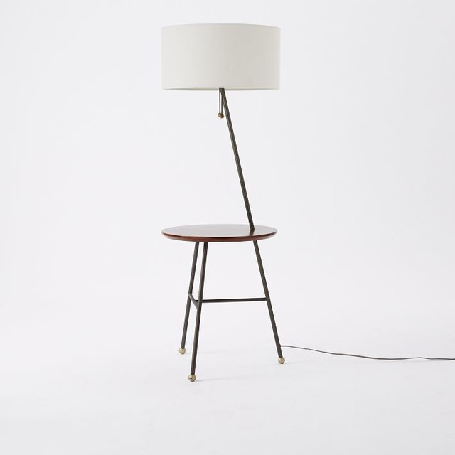 Duo Side Table Floor Lamp - Contemporary - Side Tables And End Tables - by West Elm