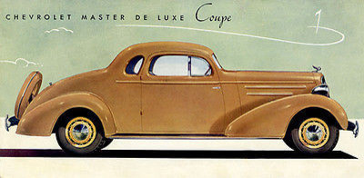 1935 Chevrolet Master Deluxe Coupe Promotional Advertising Poster, 8 5
