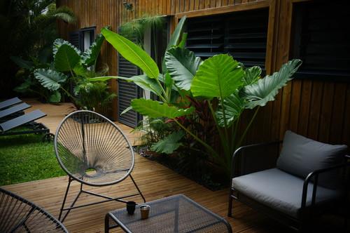 Avant apr s am nagement d 39 un jardin pour particulier for Amenagement jardin tropical