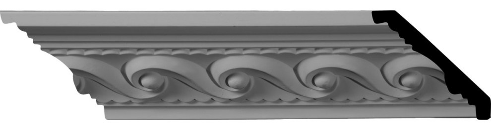 2 5 8 H X 2 3 8 P X 3 5 8 F X 94 1 2 L Marseille French Scroll Crown Moulding Traditional Molding And Trim By Ekena Millwork