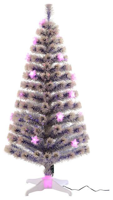 74f2b2edfca6 HomCom 5' Artificial Holiday Fiber Optic Light Up Christmas Tree, ...