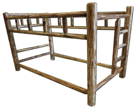Northern Torched Cedar Log Bunk Bed Rustic Bunk Beds By
