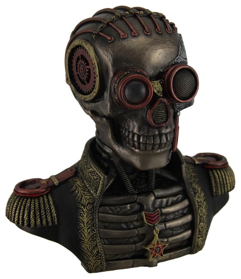 Steampunk Submarine Vs Octopus Trinket Box Statue