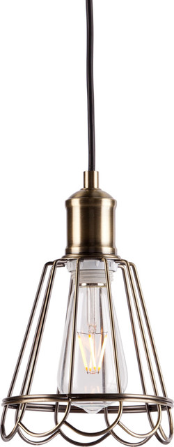 Rubin Pendant Light, Antique Bronze.