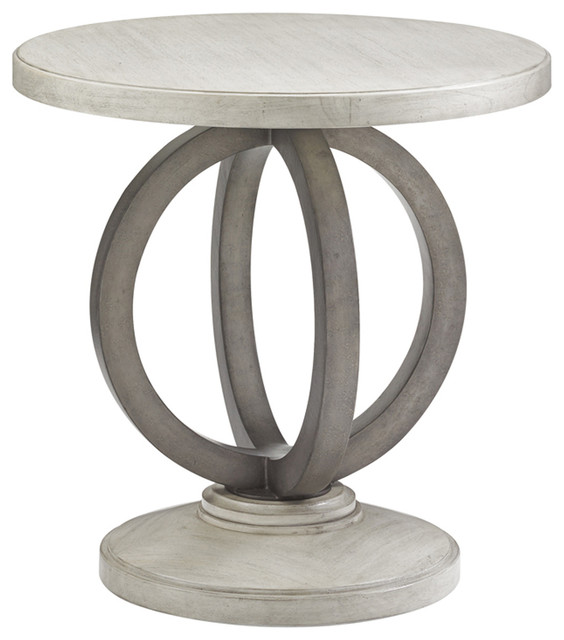 Lexington Oyster Bay Hewlett Round Side Table Transitional Side Tables And  End