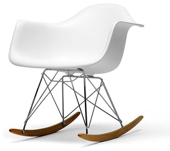 Vinnie White Cradle Chair