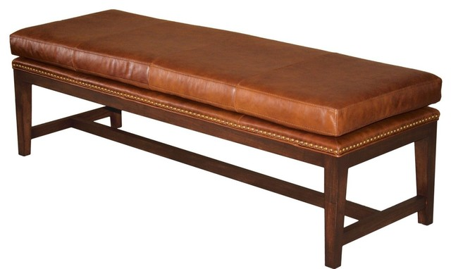 For Now Designs Mid Century Modern Tobacco Brown Leather