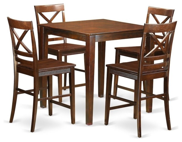 5-Piece Counter Height Dining Room Set, Pub Table And 4 Dinette Chairs by East West Furniture