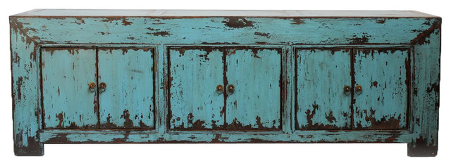 Turquoise Ming Media Cabinet