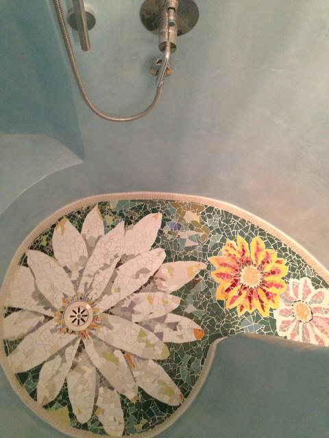 Piatto doccia con mosaico al mare catania palermo - Mosaico per piatto doccia ...