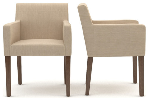 Need to find low back upholstered dining chairs with arms for Modern low back dining chairs