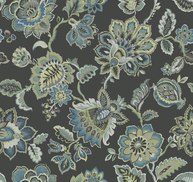 Corona Multicolor Jacobean Wallpaper Traditional