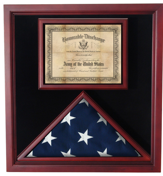 Flag Medal Display Case Shadow Box
