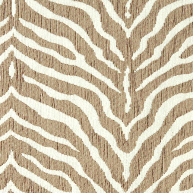 Beige Zebra Woven Chenille Upholstery Fabric By The Yard - Contemporary - Upholstery Fabric - by ...