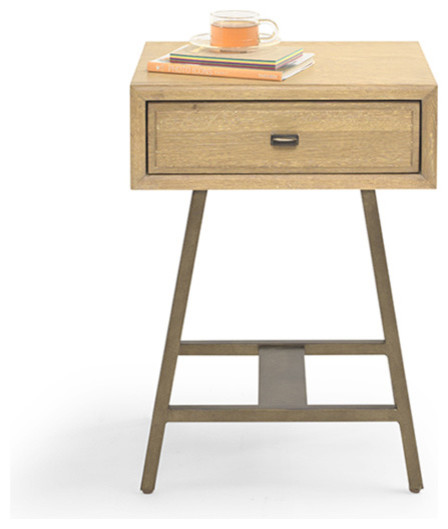 Vintage style bedside table modern nightstands and for Modern bedside tables nightstands