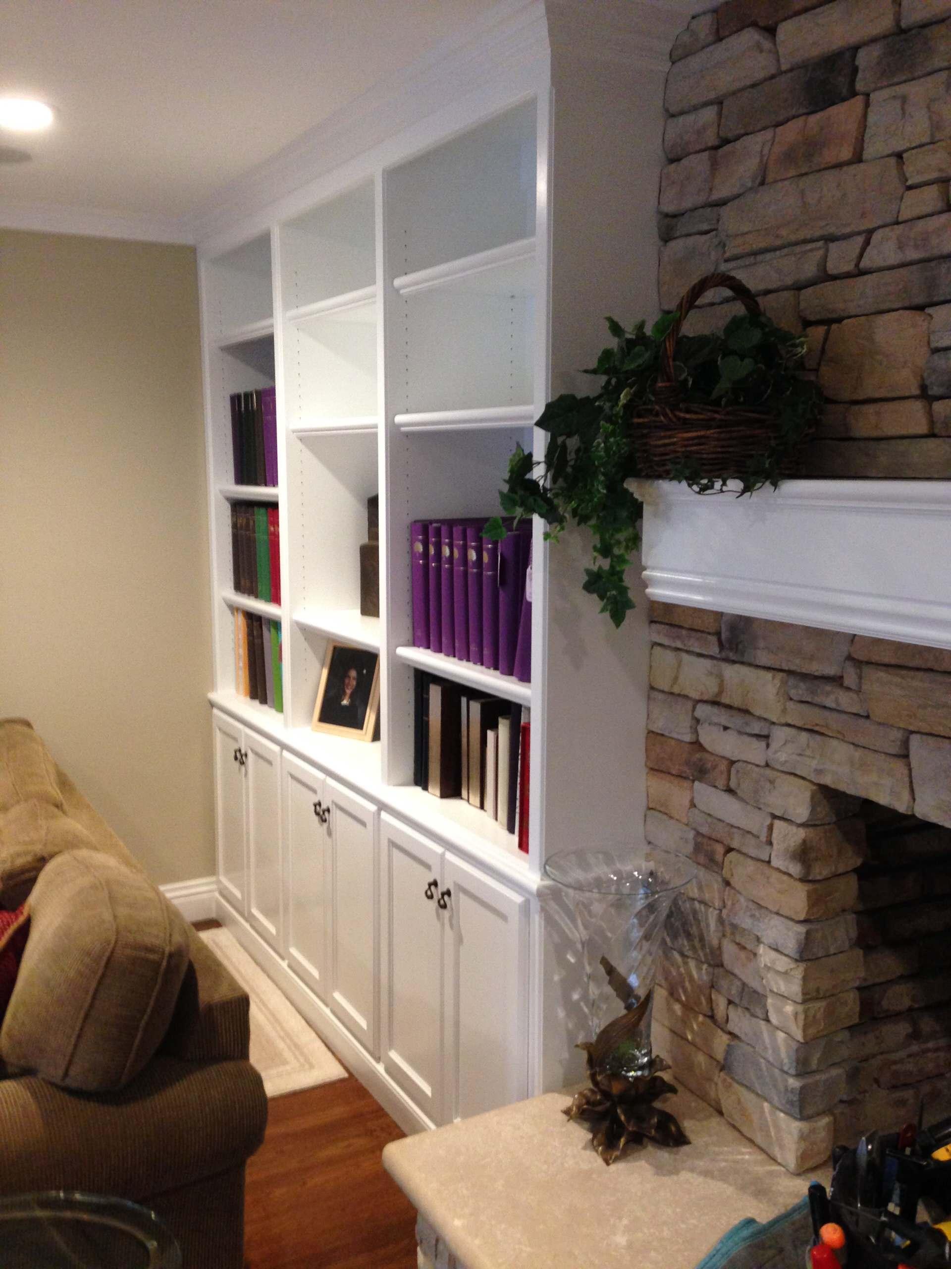 Encino Wall Unit, Bookcase & Mantle