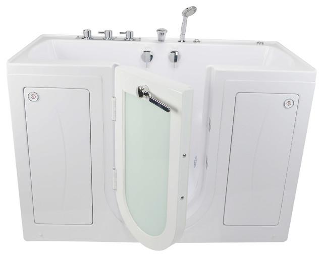 Ella Tub4two Acrylic Hydro Massage Outward Swing Door Bathtub.