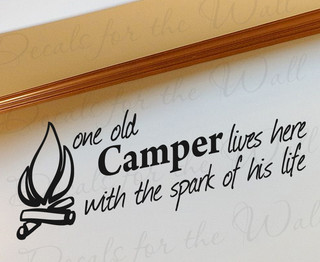 Decals for the Wall - Wall Decal Sticker Quote Vinyl Art Lettering One Old Camper Grandparents ...
