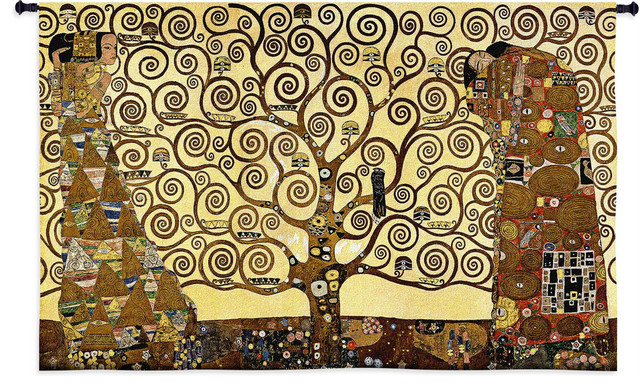 """Stoclet Frieze Wall Tapestry, 34""""x53"""". -1"""