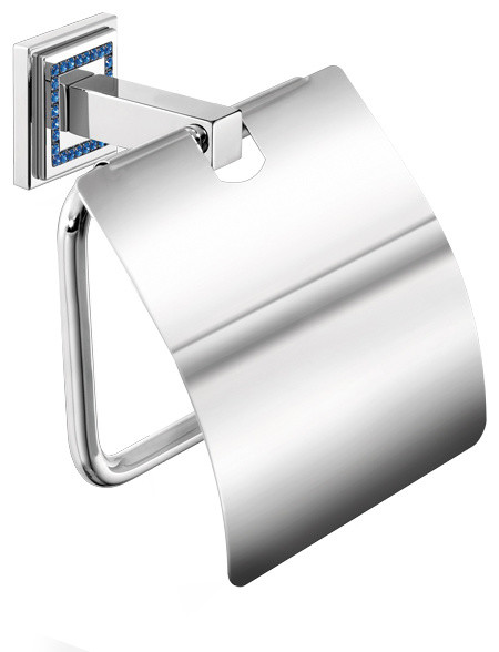 Scba Angel Swarovski Wall Toilet Paper Holder Tissue Dispenser With Lid Br Contemporary Holders By Agm Home