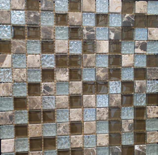 Random Multicolor Stone And Gl Square Pattern Mosaic Tile 1 Carton 11 Sheets
