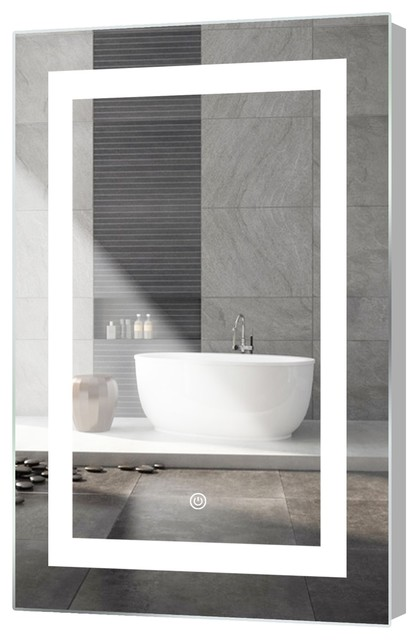 """Kent LED Mirror With Touch Sensor, 18""""x30"""""""