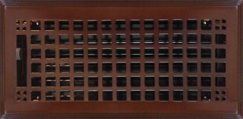 Oil Rubbed Bronze Rockwell Plated Steel Craftsman Floor Register, 6x12.