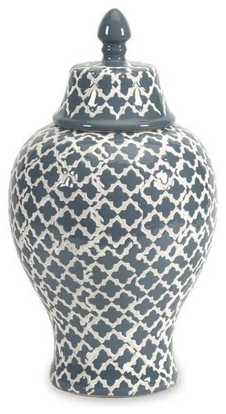 Imax Corporation Layla Decorative Urn Black Large Mediterranean