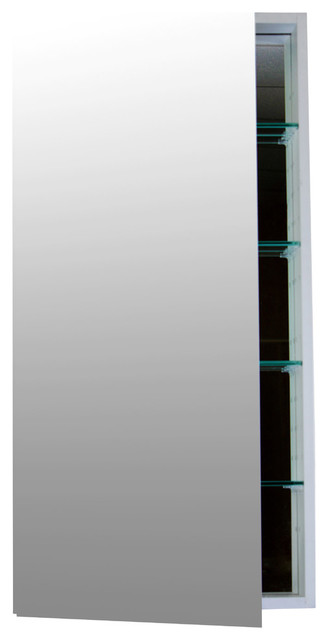 "Soft-Close Mirrored Medicine Cabinet, 24""x40""."