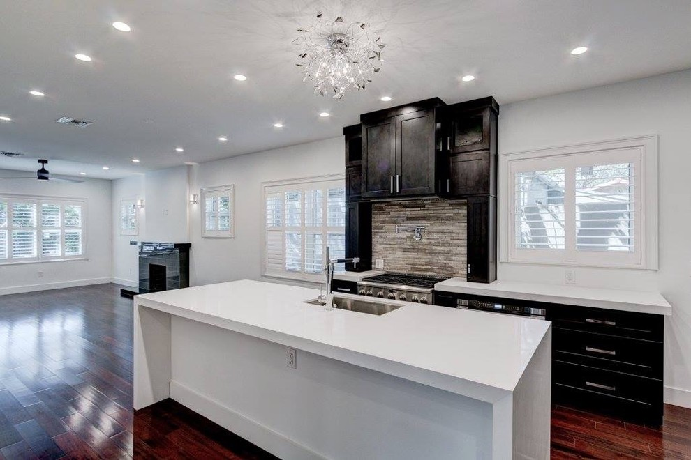 Contemporary Shaker Style Kitchen Cabinets Coral Gables Historic House Modern Miami By Americabinets Express Inc