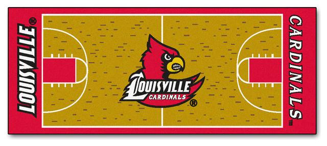 Louisville Cardinals Basketball Court Runner Rug