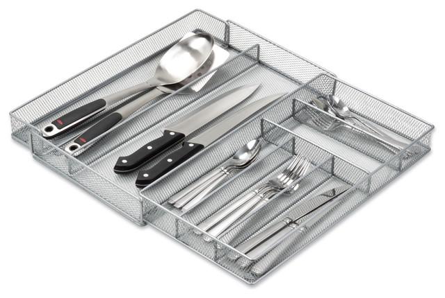 Honey Can Do Kch 02163 Expandable Steel Mesh Drawer Organizer Silver